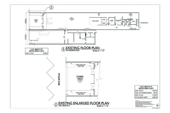 118 S. Beach Street Floor Plan 1