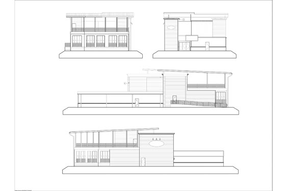Barracudas Restaurant Elevations of all sides