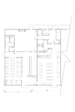 Blau Restaurant and Bar Floor Plan