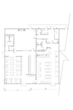 Blau Restaurant and Bar Floor Plan