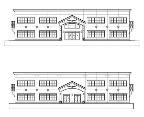 Concierge Business Center Project Elevations Front/Rear