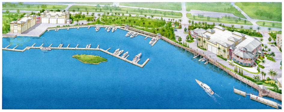 Coronado Island Marina Village Project Drawing Overview