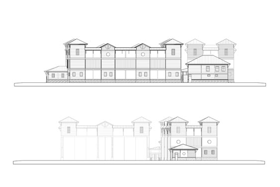 Coronado Island Marina Village Elevations Sides of Building