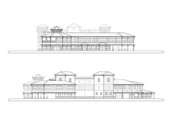 Coronado Island Marina Village Elevations Front/Rear