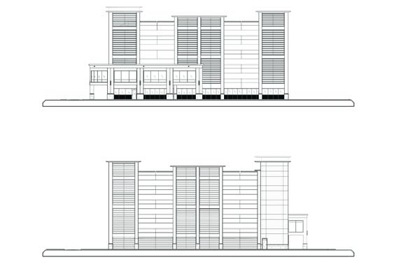Daytona Parking Garage Elevations of Sides