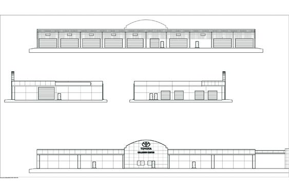Daytona Toyota Service Building Elevation