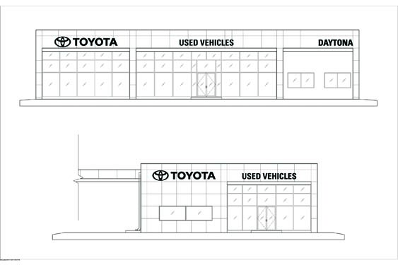 Daytona Toyota Sales Building Elevation