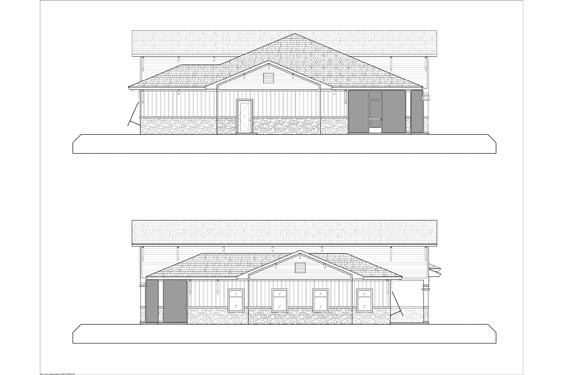 Eagle Landing Phase 1 Main Clubhouse Side Elevations