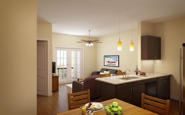 Eagle Landing Phase 1 Rendering of residential interior
