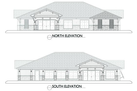 Eagle Landing Phase 2 Clubhouse Elevations North/South