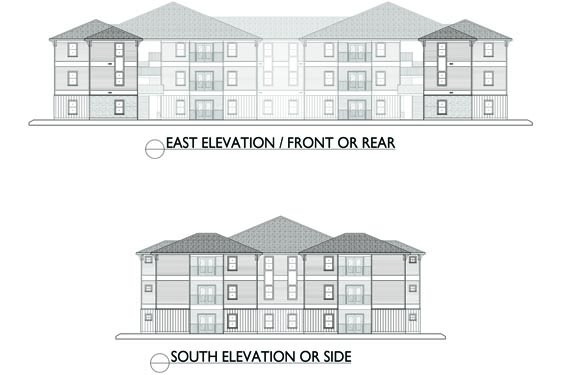 Eagle Landing Phase 2 East/South Elevations