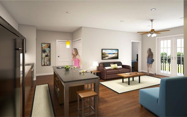 Eagle Landing Phase 2 Rendering of residential interior
