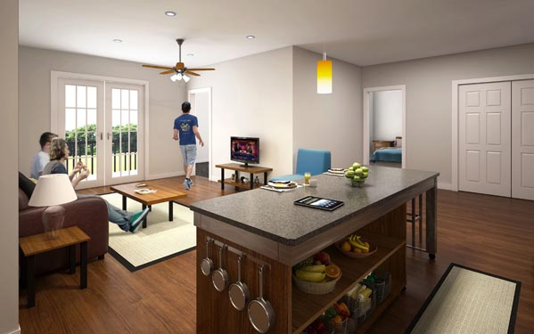 Eagle Landing Phase 2 Rendering of residential interior 2