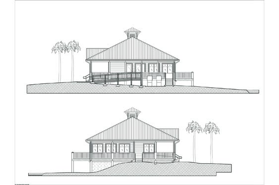 Environmental Learning Center Elevations of Sides