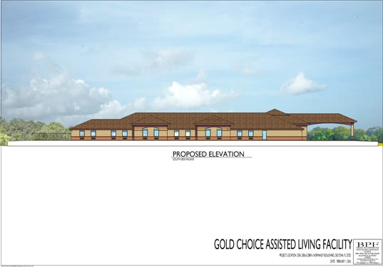 Gold Choice ALF Deltona Proposed Side 1 Elevations