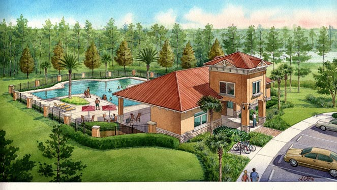 Grand Landing Clubhouse Building Rendering