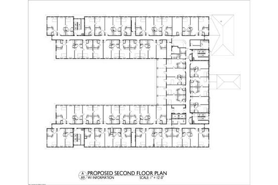 Heritage Waterside ALF Daytona Beach 2nd floor Floor Plan 2