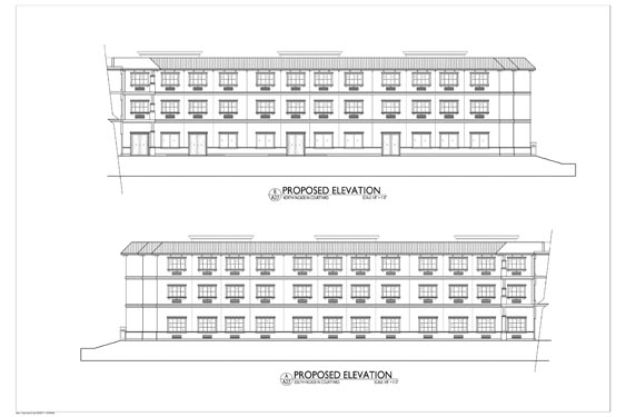 Heritage Waterside ALF Daytona Beach Elevation Blueprints of Building