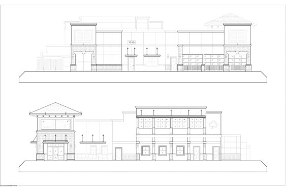 Houligans Restaurant and Bar Elevations of sides