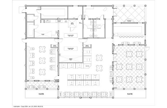 Maria Bonitas Restaurant Floor Plan 1