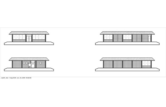 Maria Bonitas Restaurant Elevations of x-elevation