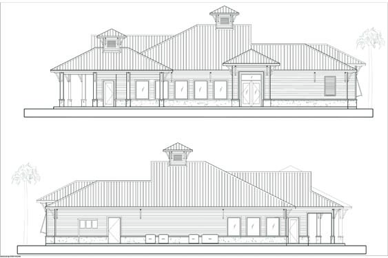NSB Marina restaurant front/rear elevations