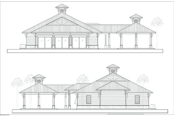 NSB Marina Restaurant side elevations