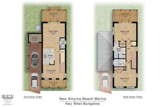 NSB Marina Key West Bungalow Floor Plan 1