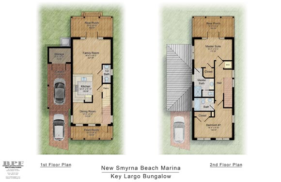 Floor Plans of Key Largo Bungalow in New Smyrna Marina