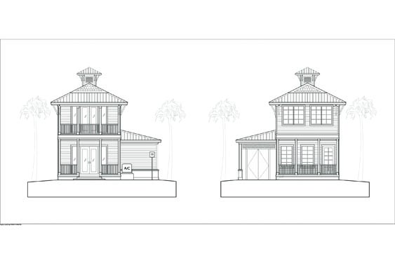 NSB Marina Key Largo Bungalow Elevations Front/Rear