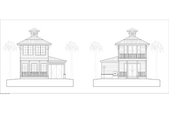 NSB Marina Key West Bungalow Elevations 3