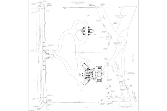 Phillips Residence Site Map