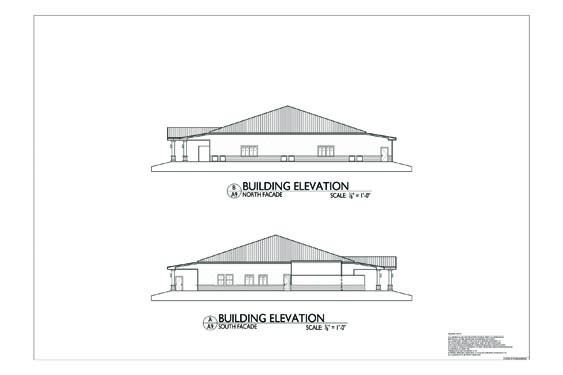 Plantation Oaks Clubhouse Elevations of Sides