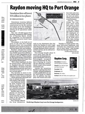 Raydon Headquarters Project Newspaper Article