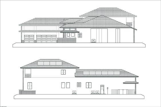 Russell Private Residence Elevations Sides