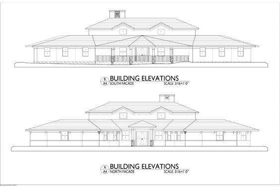 Sarah House ALF Ormond Beach Proposed Building Elevations of Front/Rear