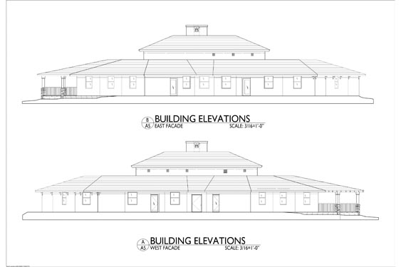 Sarah House ALF Ormond Beach Proposed Building Elevations of Sides