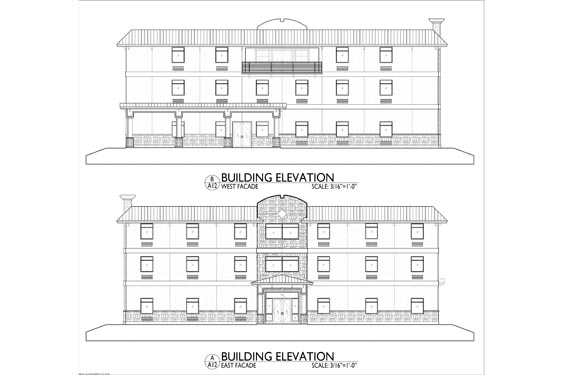 Silver Beach ALF 3 Story Project Project Elevation Blue Prints