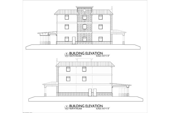 Silver Beach ALF 3 Story Project Project Elevation Blue Prints 2