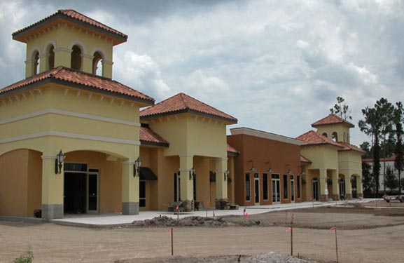 Southwinds Shoppes Construction Site of Front of Shops 4