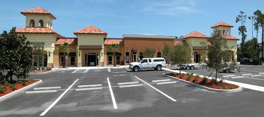 Southwinds Shoppes Completed Project and parking lot