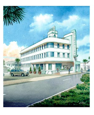 Streamline Hotel Building Rendering of Building Exterior