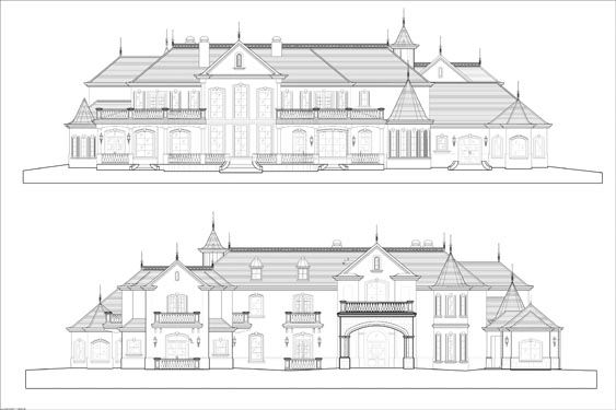 Yeoman Residence Elevations of Front/Rear Building