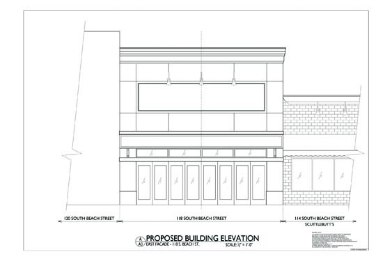 118 S. Beach Street Elevations Front