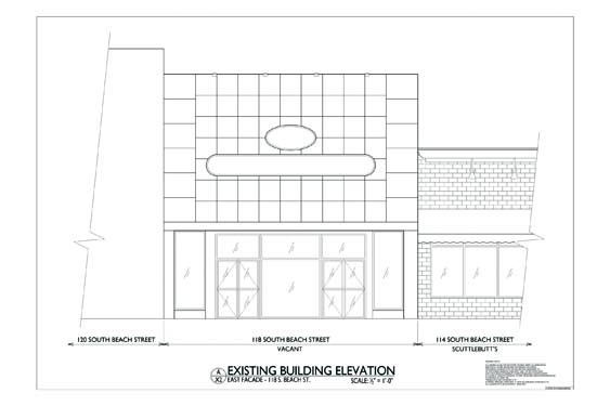 118 S. Beach Street Elevations Rear