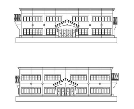 Concierge Business Center Project Elevations Sides