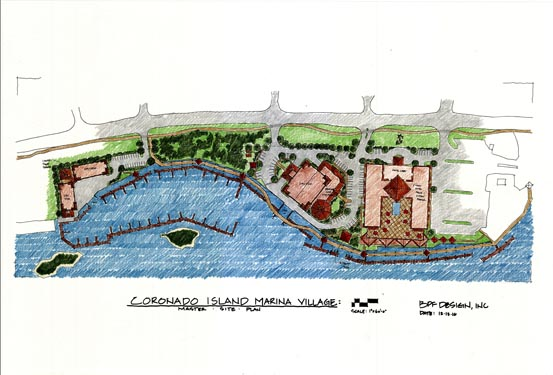 Coronado Island Marina Village Project Drawing 2