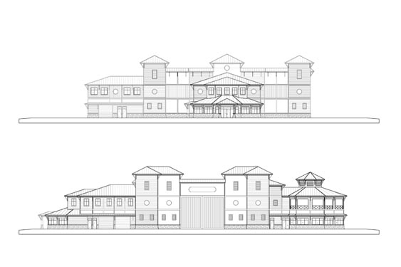 Coronado Island Marina Village Elevations Sides