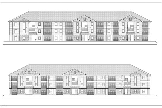 Eagle Landing Phase 1 Front/Rear Elevations