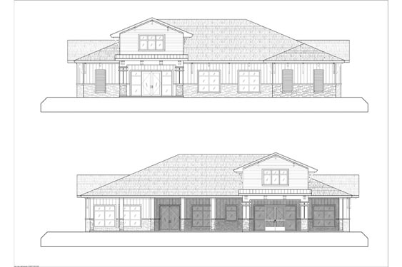 Eagle Landing Phase 1 Main Clubhouse Front/Back Elevations